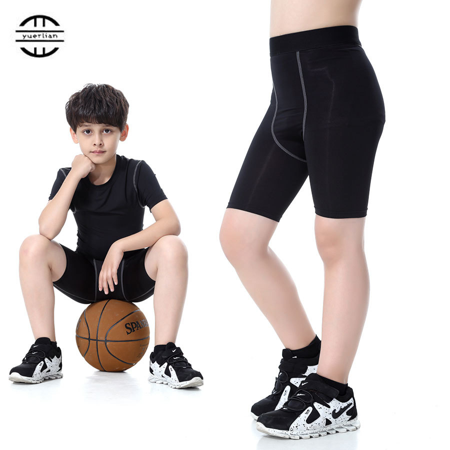 New Sport Short Children Football Basketball Shorts Polyester Quickly Dry Summer Athletic Gym Fitness Compression Running Short ...