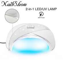 Nagų praleidimas Naujausias UV šviesos diodų nagų lempa 36W Nagų džiūvimo želė UV želė želėms nagų lako su jutikliu