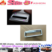 High quality for N1ssan Murano 2015 2016 car inner garnish trim handle ABS chrome Glove Container switch Storage case box 1pcs