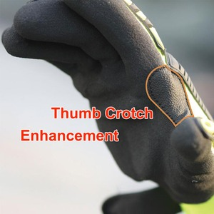 Image 5 - Cut Resistant Safety Work Glove Anti Vibration Anti Impact Oil proof Protective With Nitrile Dipped Palm Glove for Working
