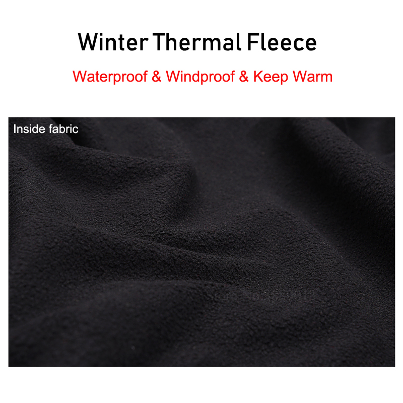 Купить с кэшбэком Waterproof Winter Thermal Fleece Cycling Pants Men Bike Shorts Bicycle Trousers Windproof Running Fitness Skiing Hiking Tights