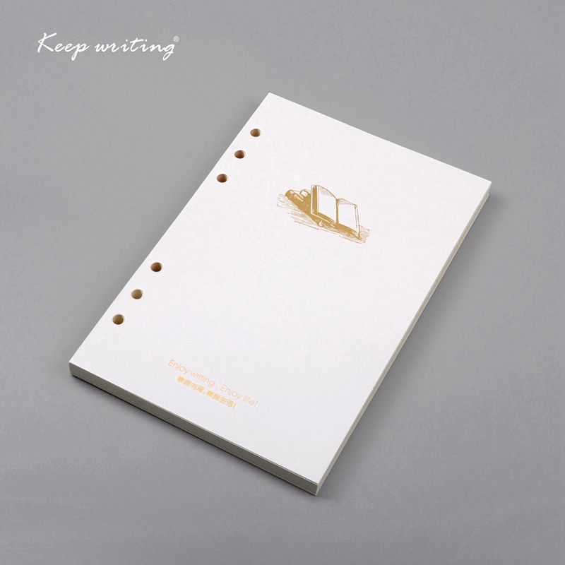 A5 filler <font><b>paper</b></font> for Organizer Notebooks 6 Holes lined <font><b>papers</b></font> line pages <font><b>100gsm</b></font> Inner Page For Filofax Ring Binder notepad diary image