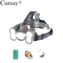 купить 20W Light Sensor Headlight Usb Rechargeable Lantern Headlamp 10000 Lumen 5 Modes T6 LED Head Torch by 18650 Battery дешево