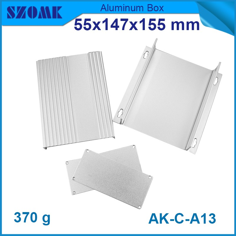 electronics project box 10 pcs/lot small aluminium project box for electronics case housing 55(H)x147(W)x155(L) mm e cap aluminum 16v 22 2200uf electrolytic capacitors pack for diy project white 9 x 10 pcs