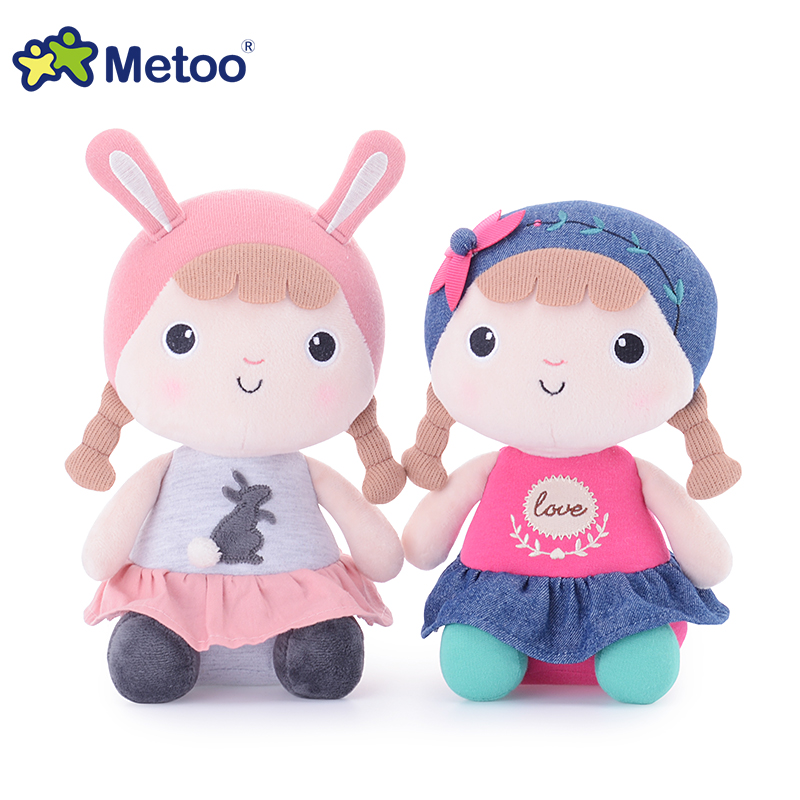 Metoo pretty girl baby plush toys Kawaii baby appease stuffed doll cute kids toys for children girl birthday gift 22cm cute simulation fox plush toys kids appease doll gifts