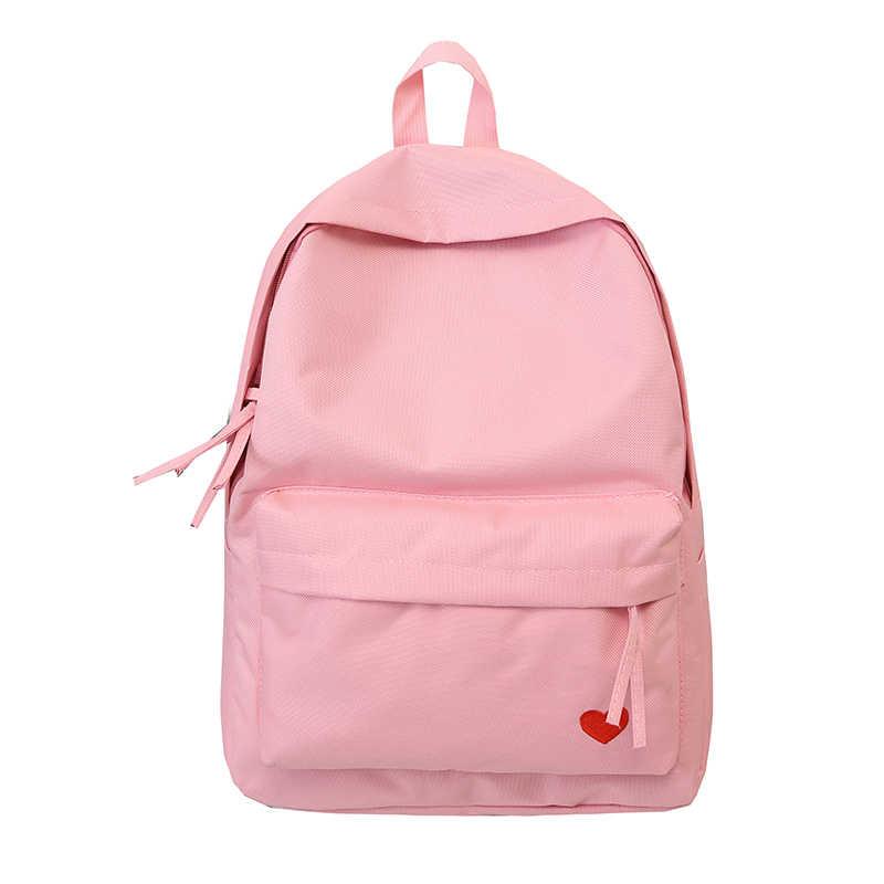 bd37a513266d 2018 Новый женский рюкзак простой холст Модный маленький и свежий школа  дорожная сумка большая емкость портфель