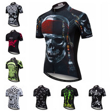 3cbd1fdc5 2018 Men Cycling Jersey Short Sleeve mtb Bicycle Clothing Youth Bike Jersey  Ropa Ciclismo Maillot Shirt Pirate Skull Skeleton