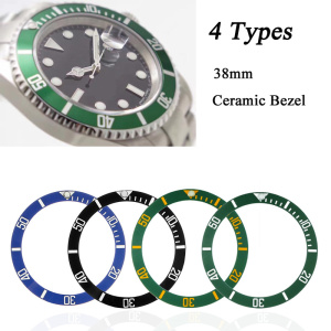 Black/Blue/Green Watches Replace Accessories 38mm Watch Face Ceramic Bezel Insert For 40mm Submariner Automatic Mens(China)
