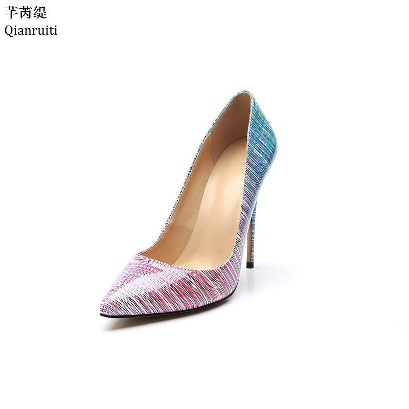 Shown De As Impression Pompes Talons Mariage Femmes Verni Pointu Chaussures Sexy Qianruiti Bout Stiletto Hauts Slip Cuir on Tdq6n6xU
