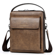FEIDIKABOLO New Double Zipper Men bags Vintage Shoulder Cros