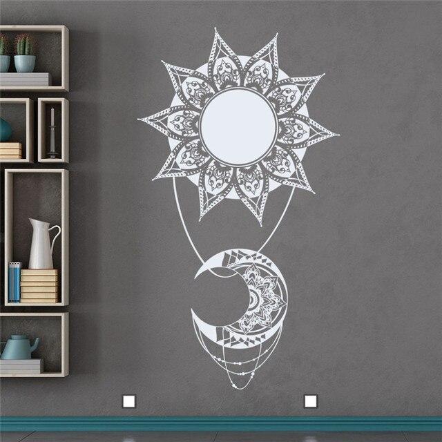 Bohème Soleil Lune Vinyle Sticker Style Indien Mandala Stickers ...