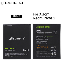 YILIZOMANA Li-ion Battery BM45 For Xiaomi RedMi Note 2 Bateria Hongmi Red Rice Note2 3020mAh Replacement Batteries