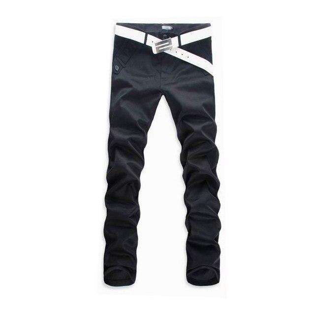 b6c79c0516 De los hombres Delgados Rectos Pantalones Casuales Pantalones de Vestir de  Negocios 2016 Nuevo Marca de