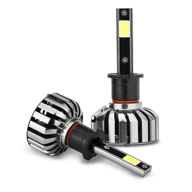 2 pièces H1 Voiture H7 Super 9004 880 H3 LED Conversion 80 W H4 6000 K Automobile Lumineuse H13 Phare HB5 Des Ampoules De Phare