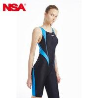 2015 NEW NSA One Piece Competition Kneeskin Waterproof Chlorine Low Resistance Women S Swimwear Quick Dry