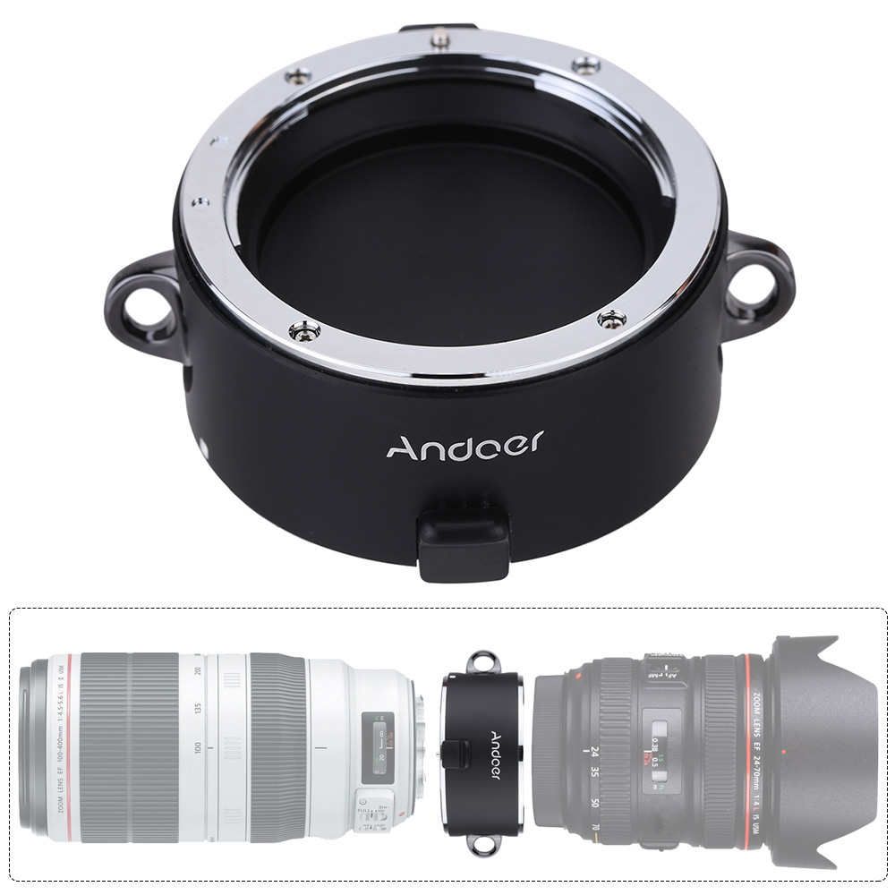 Andoer Stand by Helper Quick Changing Tool Lens Double Dual Lens Holder for Canon Sigma Tamron