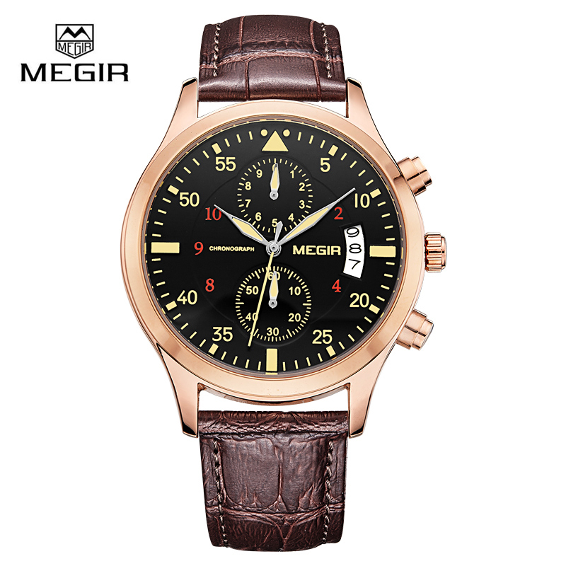 цена на Megir Clock Male Watch Men Watches 2018 Top Brand Luxury Famous Style Quartz Watch Wrist for Men Quartz-watch Relogio Masculino
