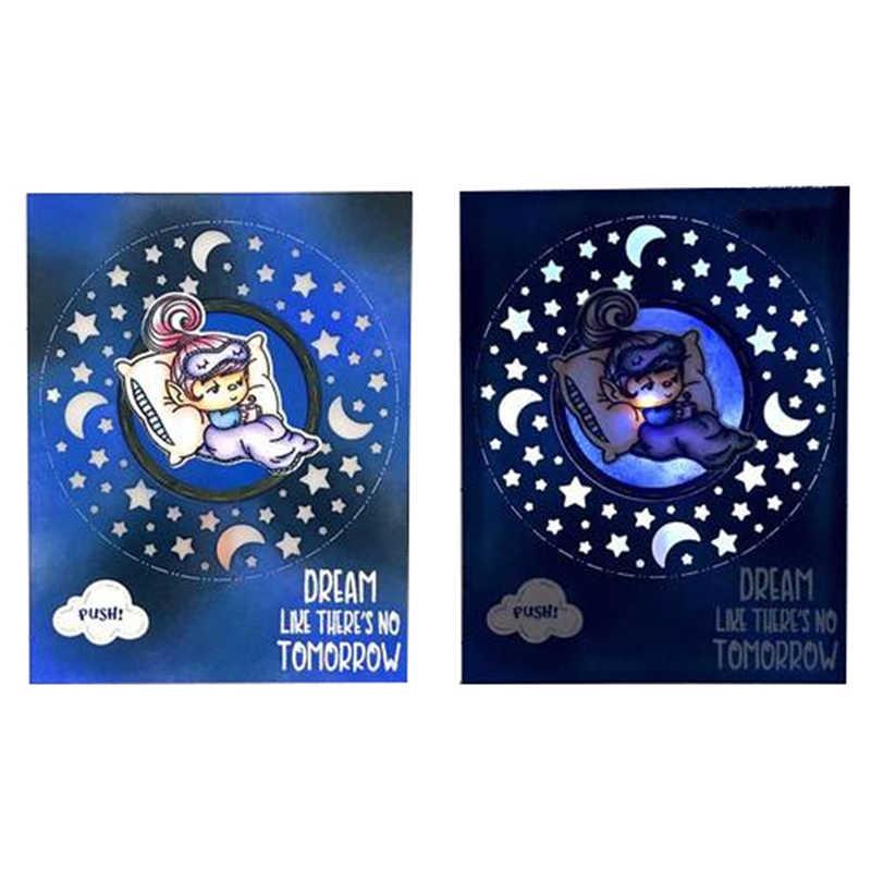 DiyArts звезда и Луна металлические режущие штампы 2019 Новинка для скрапбукинга альбом трафареты с тиснением высечки карты для рукоделия