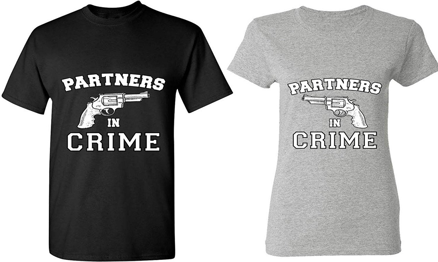 Couple t shirt design white - Gildan Partners In Crime Matching Couple Shirts His And Her T Shirts Tees