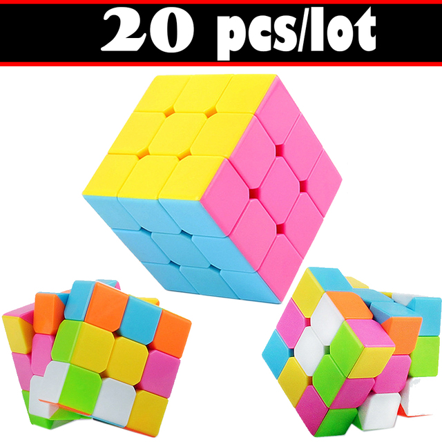 US $60 8  20 PCS/set Colorful Smooth Speed Magic Cube Puzzle 3x3x3 for Kids  3*3*3 Magic Cube-in Magic Cubes from Toys & Hobbies on Aliexpress com  
