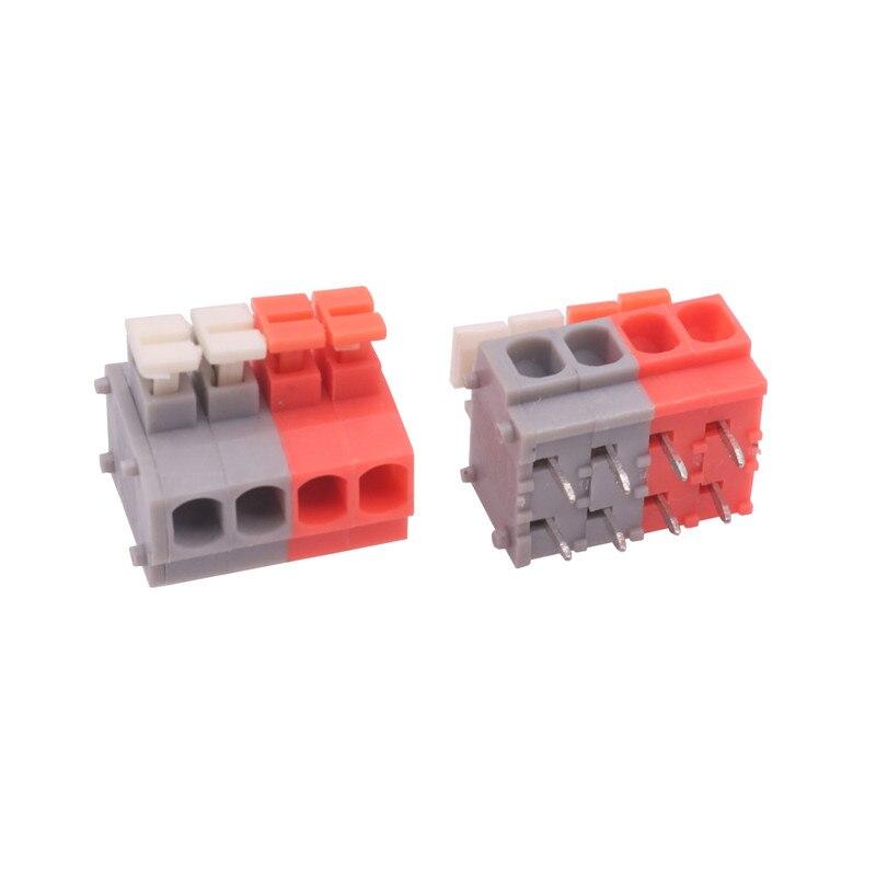 50 Pcs Estilo Kf235-3.81 8-pin Push-tipo Terminal Fina Classe Industrial