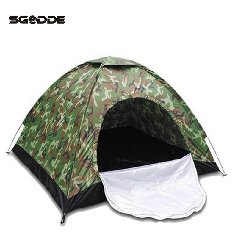 SGODDE 1-2 Personne Portable En Plein Air Camouflage Tente de Camping En Plein Air Loisirs Double Couple Camping Tente Ultraviolet-preuve Tente