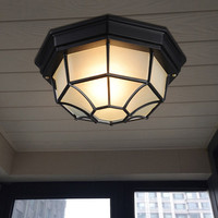 Outdoor ceiling lights Hallyway Balcony entrance Ceiling Lighting Industrial Loft Retro surface mounted Ceiling Lamp Fixtures