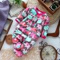 Новорожденных одежда ребенка ползунки с длинными рукавами микро-тонкой флиса комбинезон девушка новорожденный костюм для весна осень