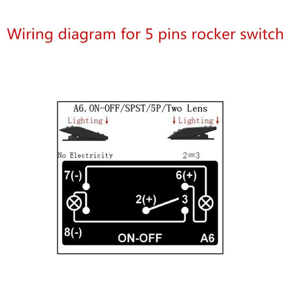 Iztoss Laser Red Led On Off Rocker Switch 20a 12v Rear Light Arb Wiring Diagram 5 Pins For Marine Rv Boat Car In Switches Relays From Automobiles Motorcycles