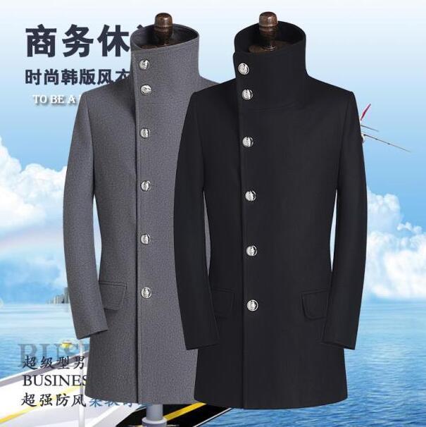 Stand collar casual woolen coat men single breasted overcoat mens cashmere coat casaco masculino inverno erkek england s - 9xl