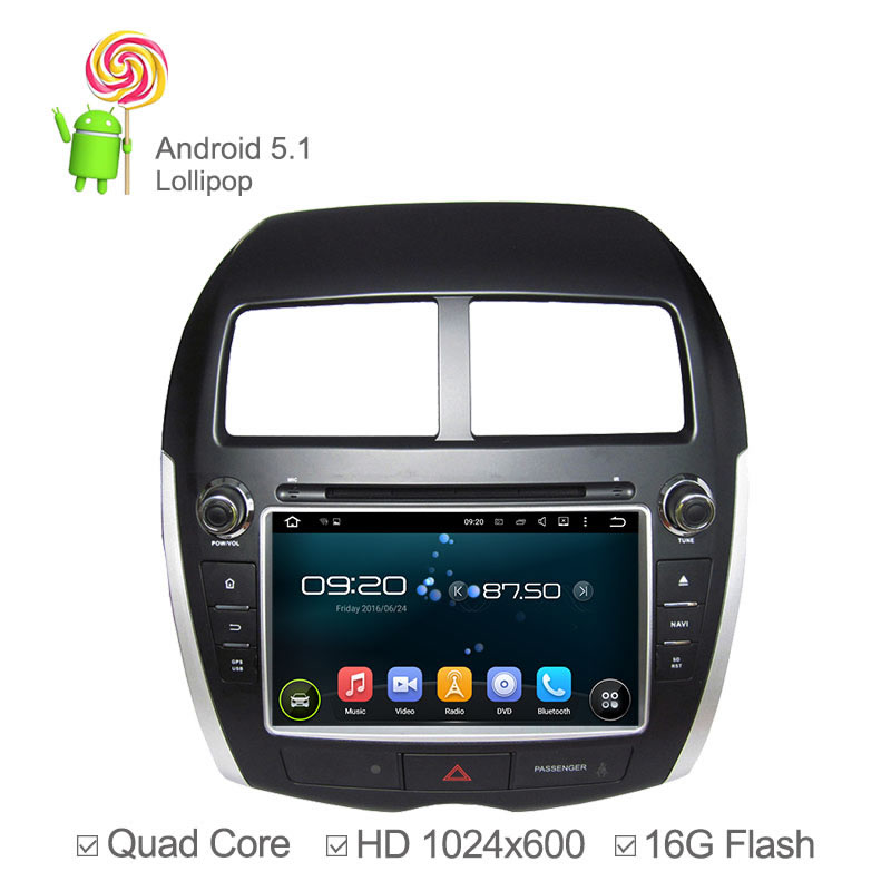 quad core android 5 1 car dvd for mitsubishi asx radio. Black Bedroom Furniture Sets. Home Design Ideas