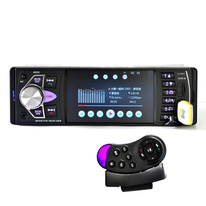 Car MP5 Player 12V Vedio Radio 4 Inch Bluetooth/Stereo FM Radio/MP4/MP5/Audio/Video/USB/SD/TFT+Steering Remote Control jul11