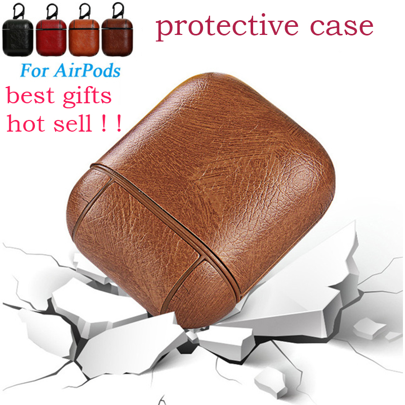 For Airpods PU PC Cover Cases For i10 i9s i12 tws AirPods Bluetooth Earpods Earphone Leather Protective Skin DropShipping in Earphone Accessories from Consumer Electronics