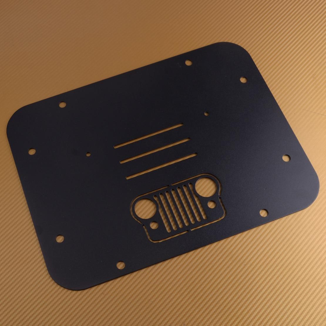 DWCX 1 Pc support de pneu de rechange noir supprimer plaque de remplissage timbre de Tramp adapté pour Jeep Wrangler JK JKU 2007-2018
