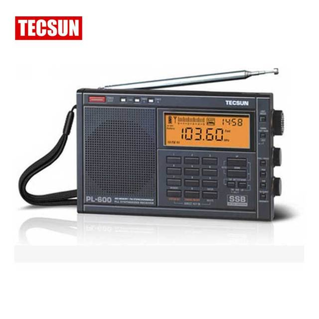 Original Tecsun pl-600 pl600 portable FM radio fm Stereo am fm sw mw pll all band receiver digital radio tecsun Free Shipping