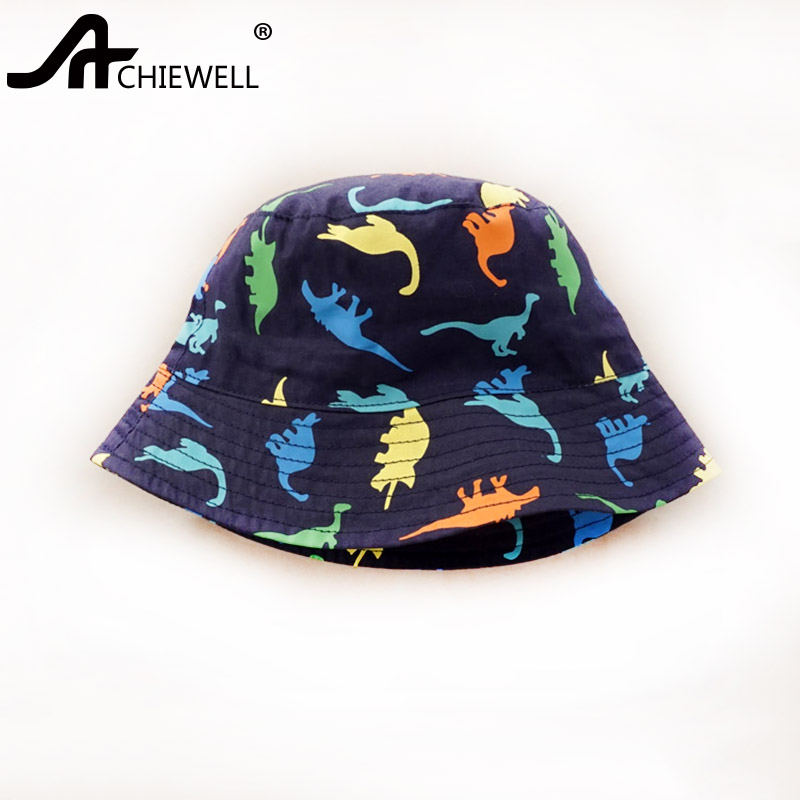 ACHIEWELL Dinosaur bucket Hat for Children Boys Beach Cap Sun for Hipster  Cap -in Bucket Hats from Apparel Accessories on Aliexpress.com  c842015f58f