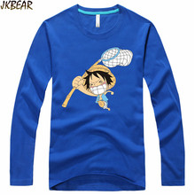 Funny Japanese Anime One Piece Monkey D Luffy Long Sleeve T Shirts for Men and Women Cute Cartoon T-shirts Plus Size S-3XL