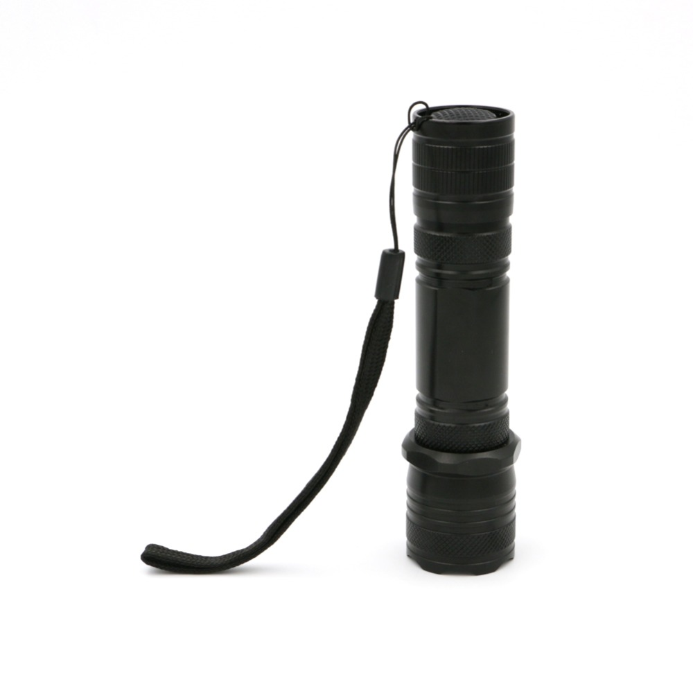 2 In 1 Hiking LED Flashlight Work Light Portable 300LM LED Camping Light Lamp Zoomable Retractable