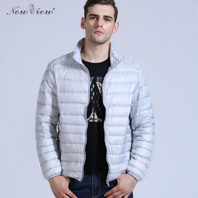 Down Coat Winter Jacket Men Brand Clothing Solid Color Parka Men Stand Collar Down Jackets Black Plus Size S-3XL For Boy Male
