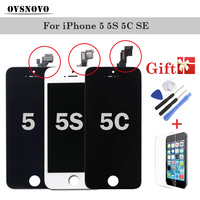 LCD Touch Display Digitizer For IPhone 5 5s 5c SE Screen Replacement Assembly Mobile Phone LCDs