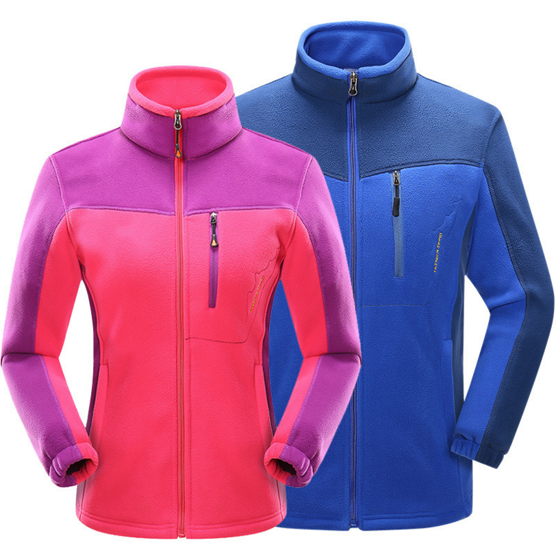 Hot Outdoor Sports Fleece Jacket For Men Women Patchwork Thick Warm Outerwear