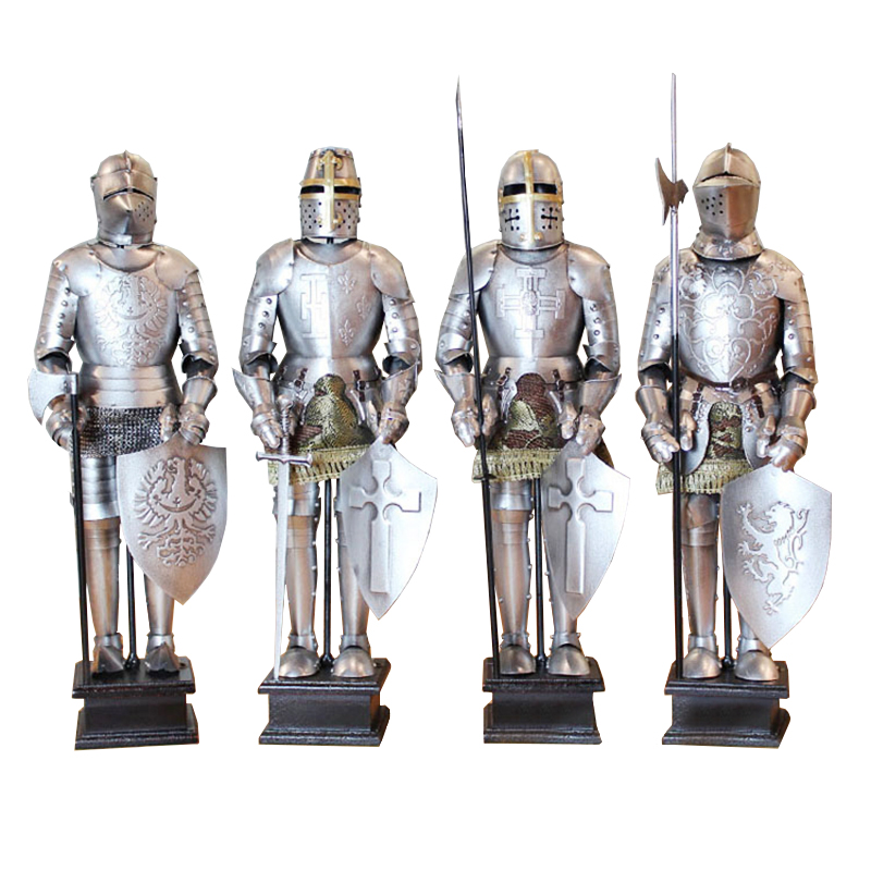 Armor Samurai Medieval Iron Vintage Den Roman Knight Model Restaurant Desktop Decorations(China)