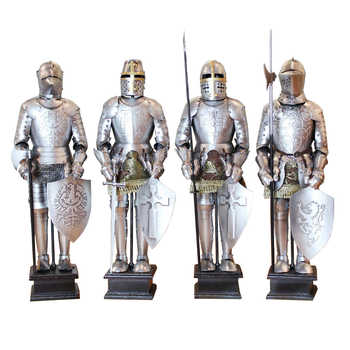 Armor Samurai Medieval Iron Vintage Den Roman Knight Model Restaurant Desktop Decorations - DISCOUNT ITEM  35% OFF All Category