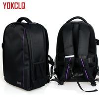 YOKCLQ 7490 Upgraded version Waterproof multi functional Digital DSLR Camera Video Bag w/ Rain Cover SLR Camera Bag PE Padded