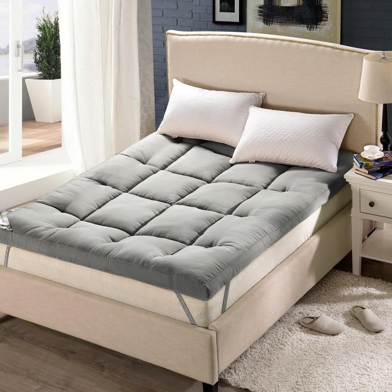 Студент противоскользящие накладки толстые теплые складной одиночный или двойной матрас Топпер мода новый стеганый кровать отель