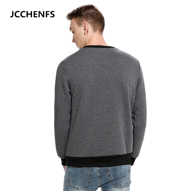 JCCHENFS 2018 Hot Fashion Sweatshirts Mens O-Neck Casual Tops Argyle Design Loose Sweatshirt Shirt Men Spring Clothing S0022
