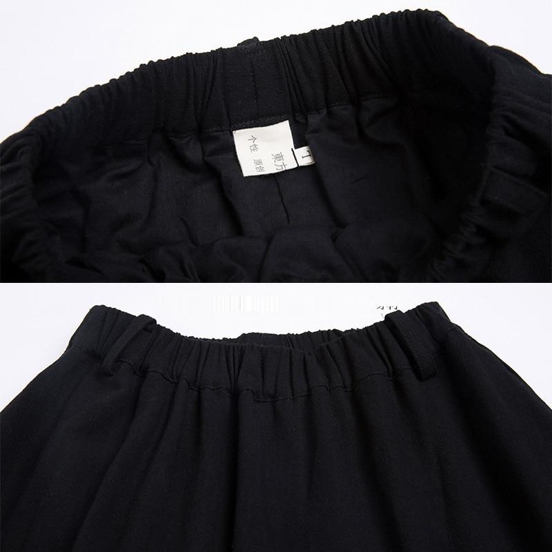 Sólido Diseños Tamaño 2018 Faldas 6xl E Falda Más Casual 5xl Negro Maxi Lino Algodón Retro Invierno otoño 4xl Mujer Largas Yw6fq