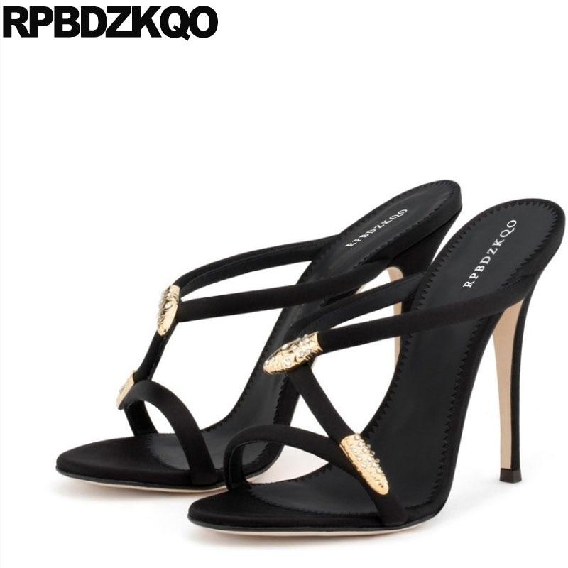 Shoes Embellished Stiletto Snake Black