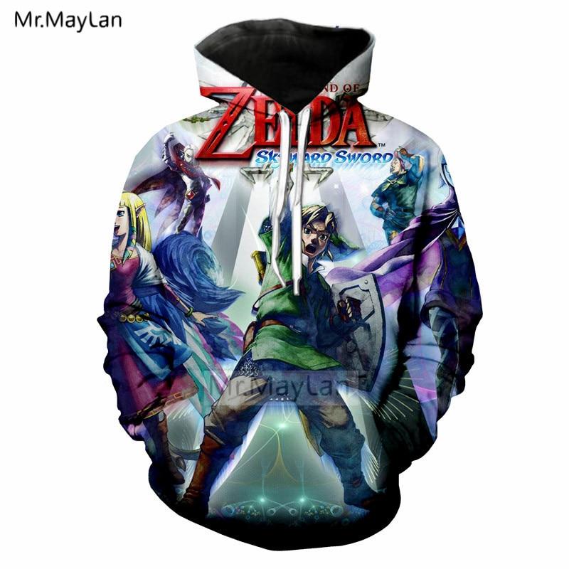 Us 19 37 37 Off Game The Legend Of Zelda 3d Print Hoodie Jacket Men Women Hipster Cool Streetwear Hoodies Hood Sweatshirts Tops Boys Clothes 5xl In