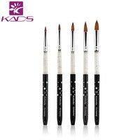 HOTSALE 100 Kolinsky Sable 5pcs SET Size 2 4 6 8 10 Acrylic Brush Black Kolinsky